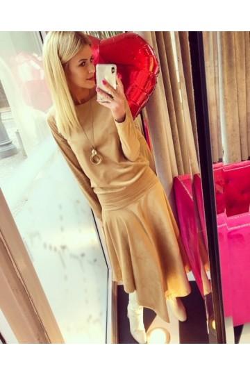 Sukienka TERRY camel