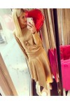 TERRY camel dress