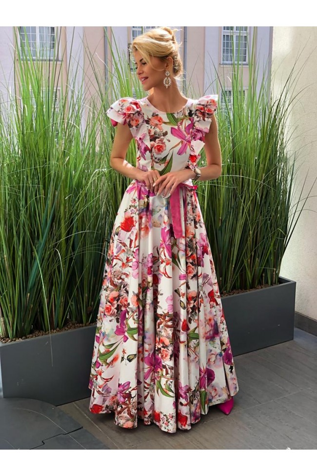 Suknia BRELA pink
