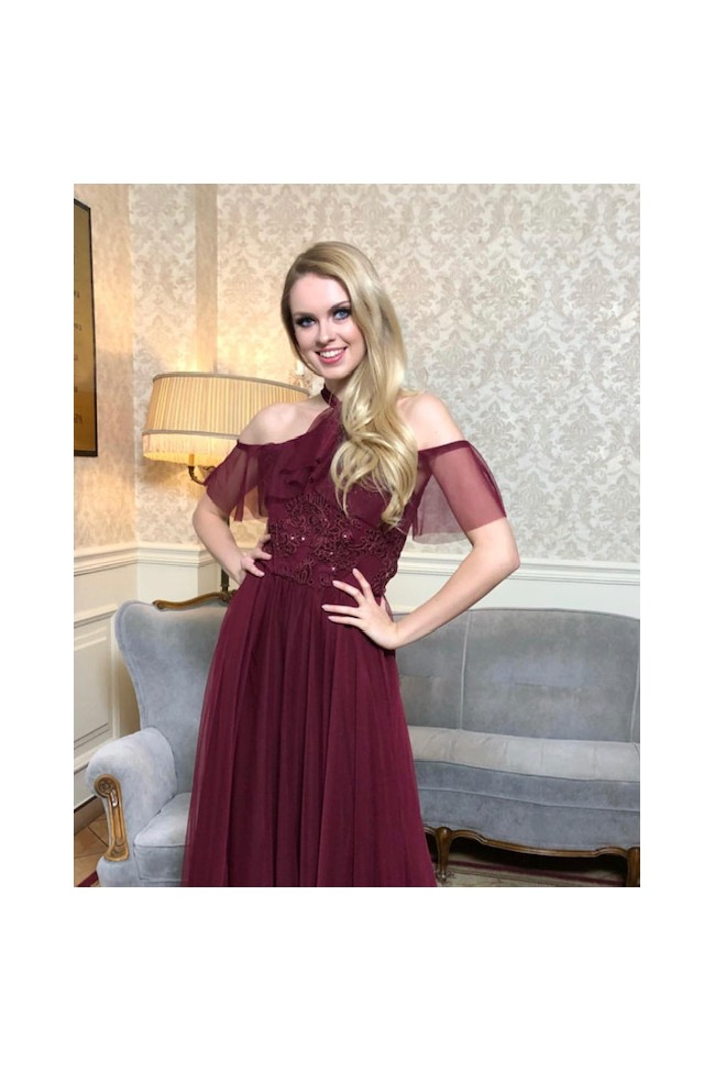 Nadia II red wine dress
