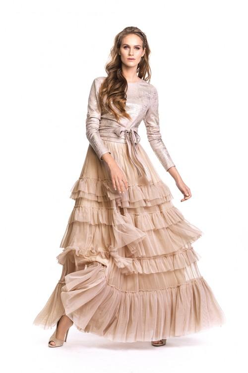 ATENA beige skirt