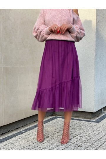 PURE violet dark skirt