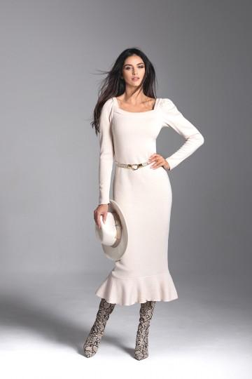 LETICIA  beige dress