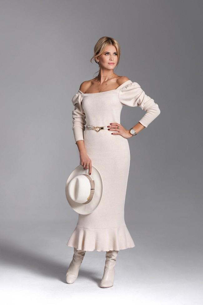 Sukienka LETICIA  beige
