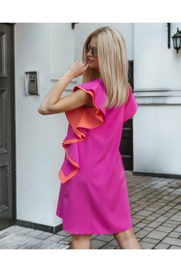 Sukienka BAFFI neon pink
