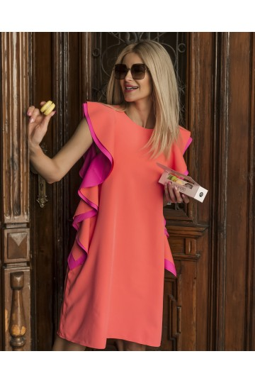 BAFFI neon orange dress