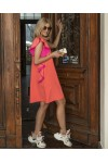BAFFI neon orange dress
