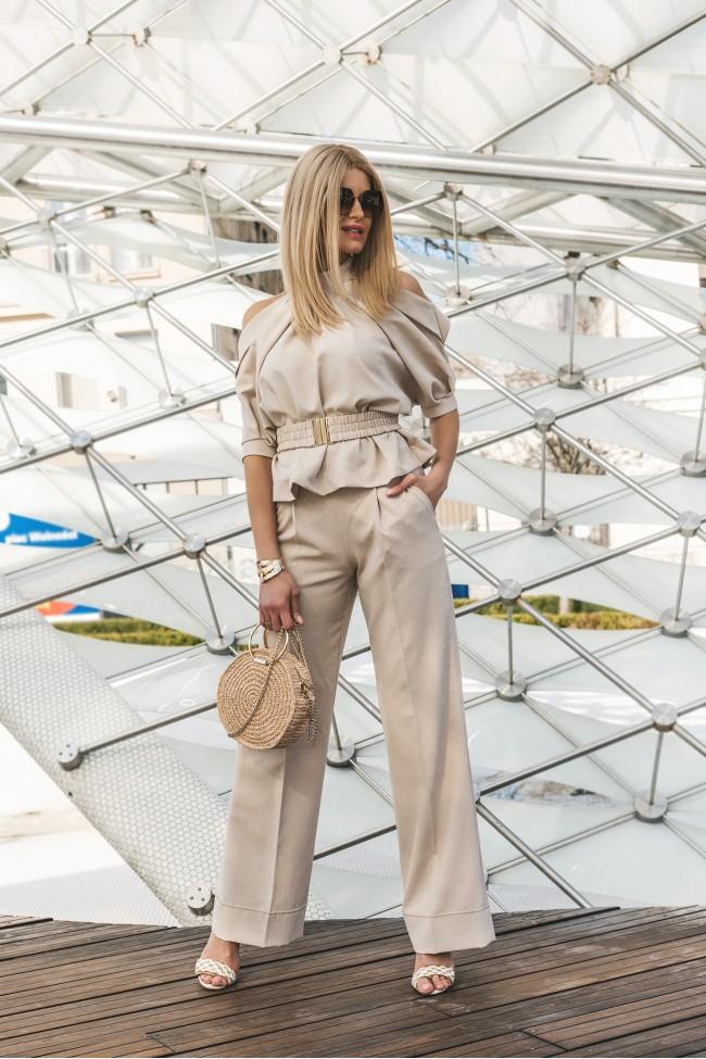 Spodnie LIPS beige