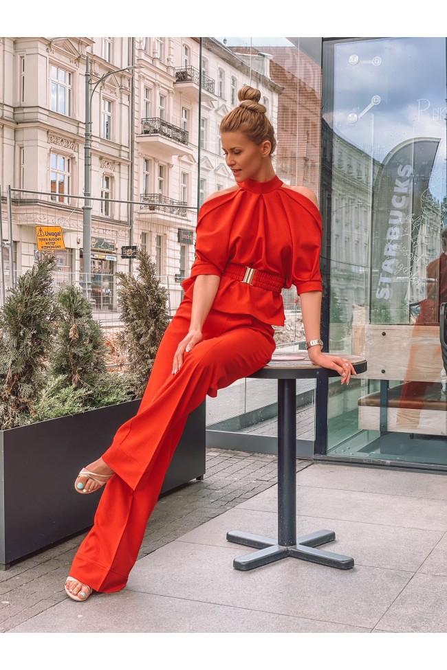 Spodnie LIPS red